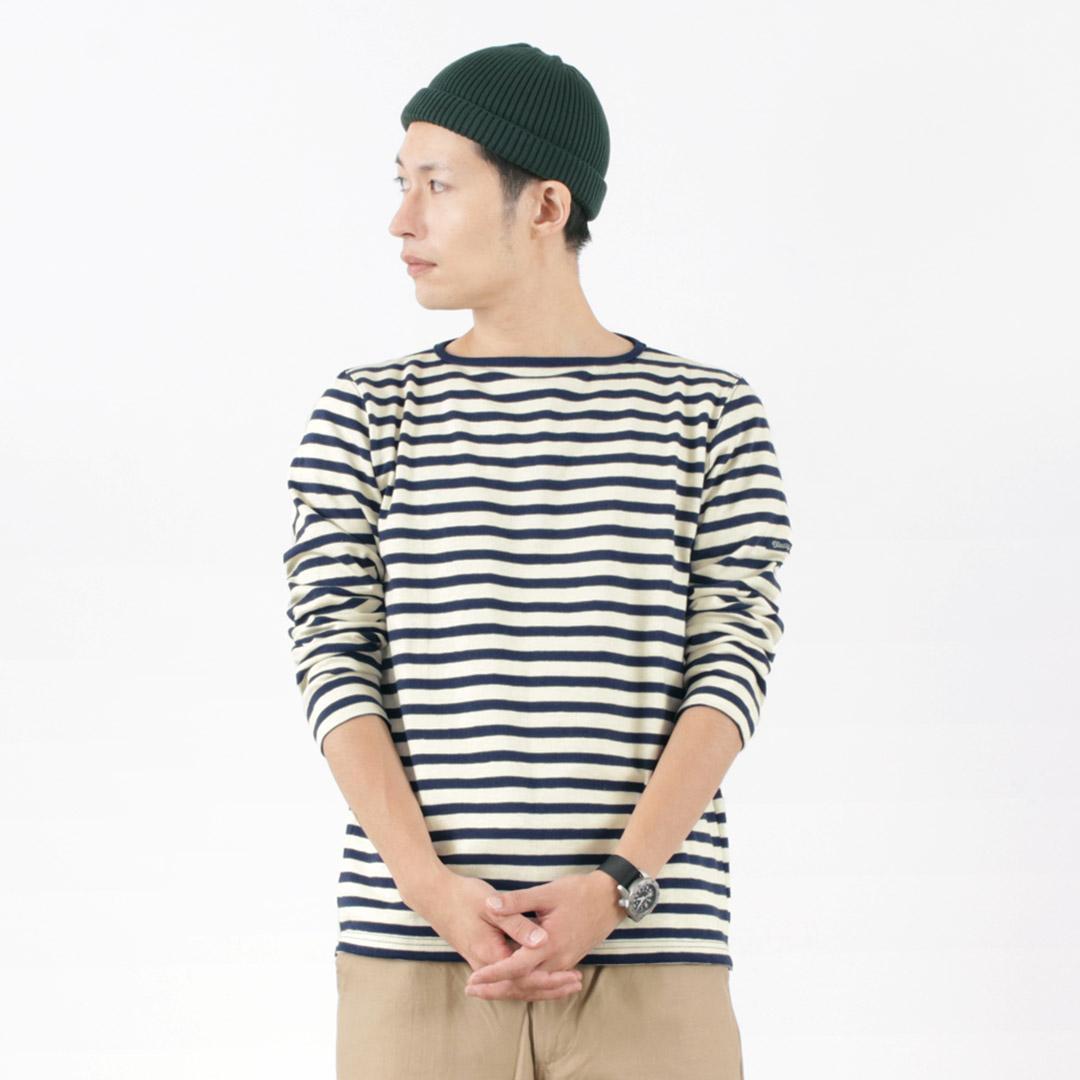 TIEASY(ティージー) HDCS オーガニックボートネック ボーダーバスクシャツ / 日本製