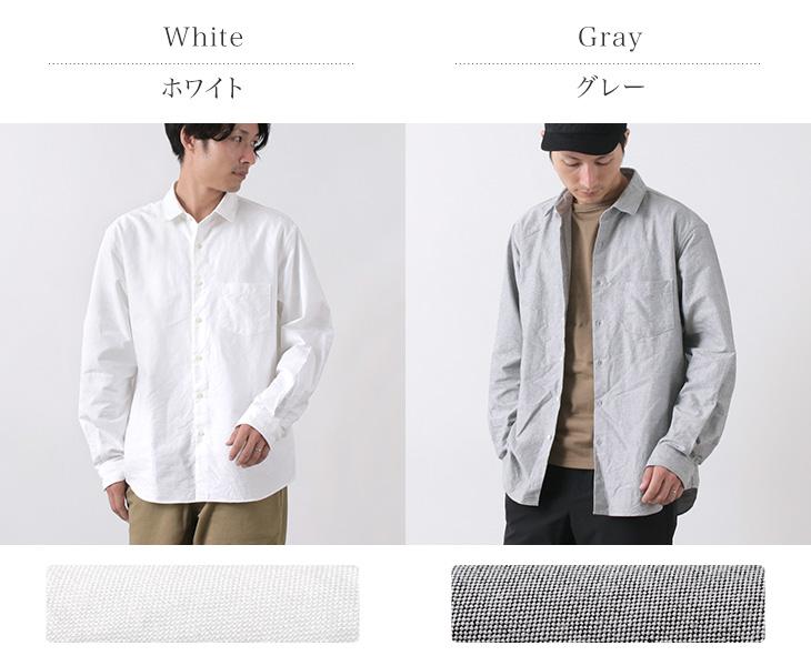ROCOCO(ロココ) アメリカンオックス ワイドシャツ レギュラーカラー / ルーズフィット / メンズ / 長袖 無地 / 日本製
