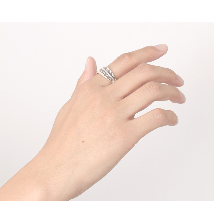 【期間限定!クーポンで10%OFF】カレンシルバーリング / 指輪 / シルバー / レディース / メンズ / ペア可 / 山と太陽 / phaduA (パ・ドゥア)