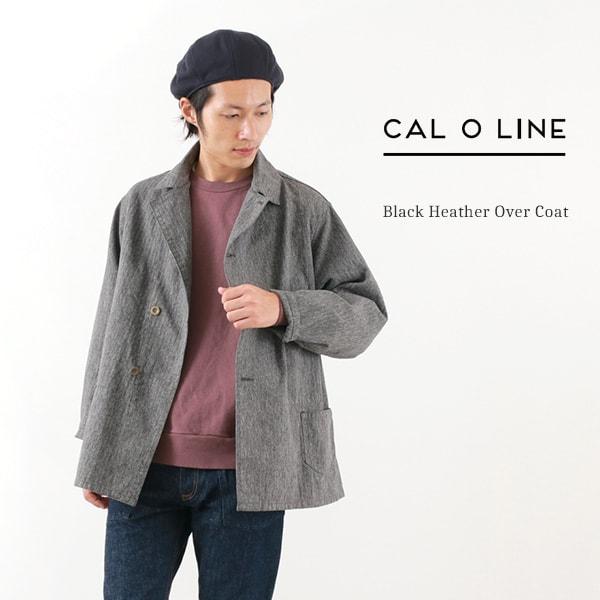 【30%OFF】CAL O LINE(キャルオーライン) ブラックヘザー オーバーコート / カバーオール / メンズ / 日本製 / BLACK HEATHER OVERCOAT【セール】