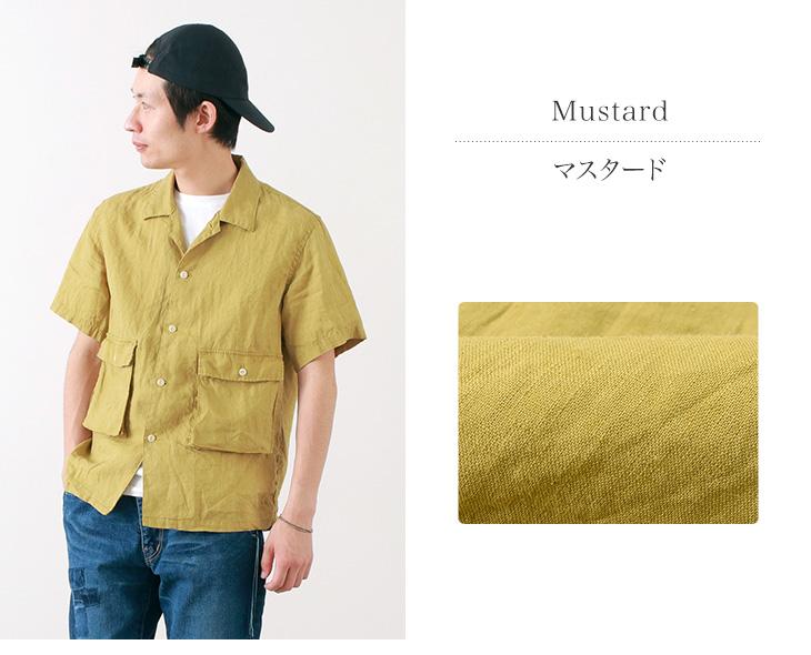【50%OFF】REMI RELIEF(レミレリーフ) リネン ビッグポケット 半袖 シャツ / 無地 / メンズ / 日本製【セール】