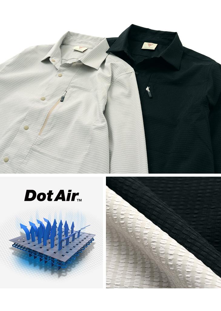 RAG(ラグ) アスレチック シャツ / メンズ / ドットエア / 軽量 透湿 撥水 / 日本製 / ROCOCO / ATHLETIC SHIRT