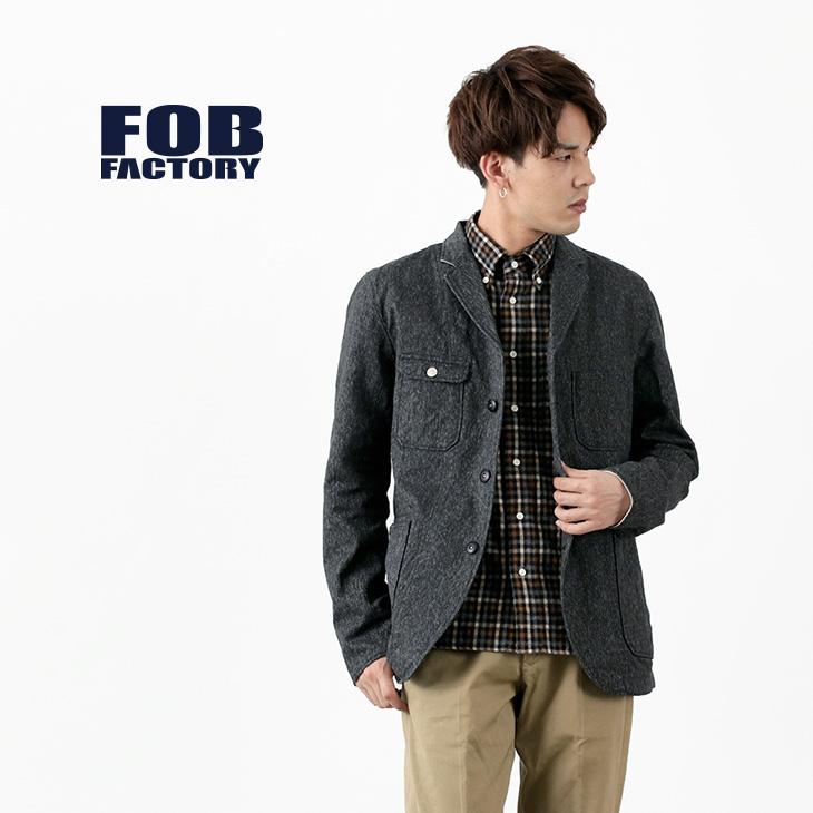 【期間限定!クーポンで10%OFF】FOB FACTORY(FOBファクトリー) F2406 エンジニア サージ ジャケット / メンズ / 日本製 / ENGINEER SARGE JK