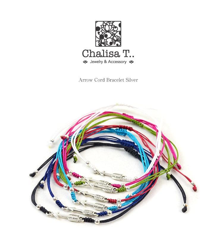 CHALISA T..(チャリッサ・ティー) アローシルバー ノッティングコード ブレスレット / シルバー925 / プレーティング