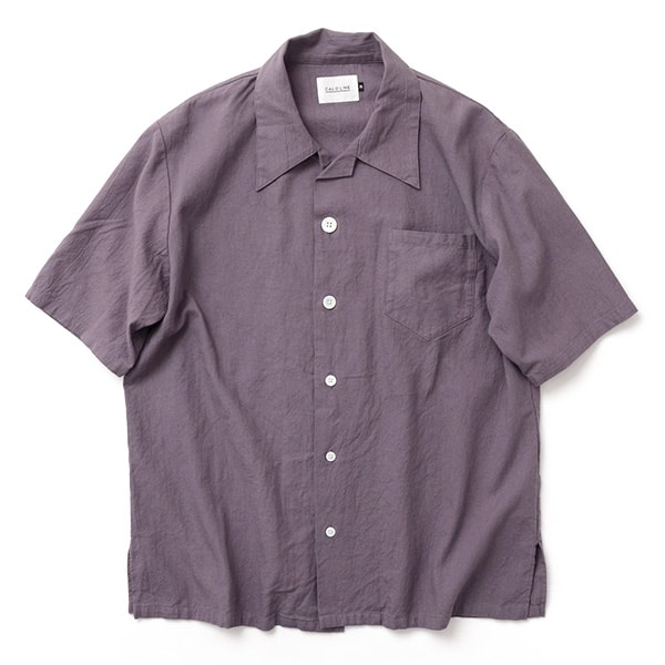 【50%OFF】CAL O LINE (キャルオーライン) オープンカラー 半袖 シャツ / 開襟 / メンズ / 日本製 / OPEN COLLAR S/S SHIRT【セール】