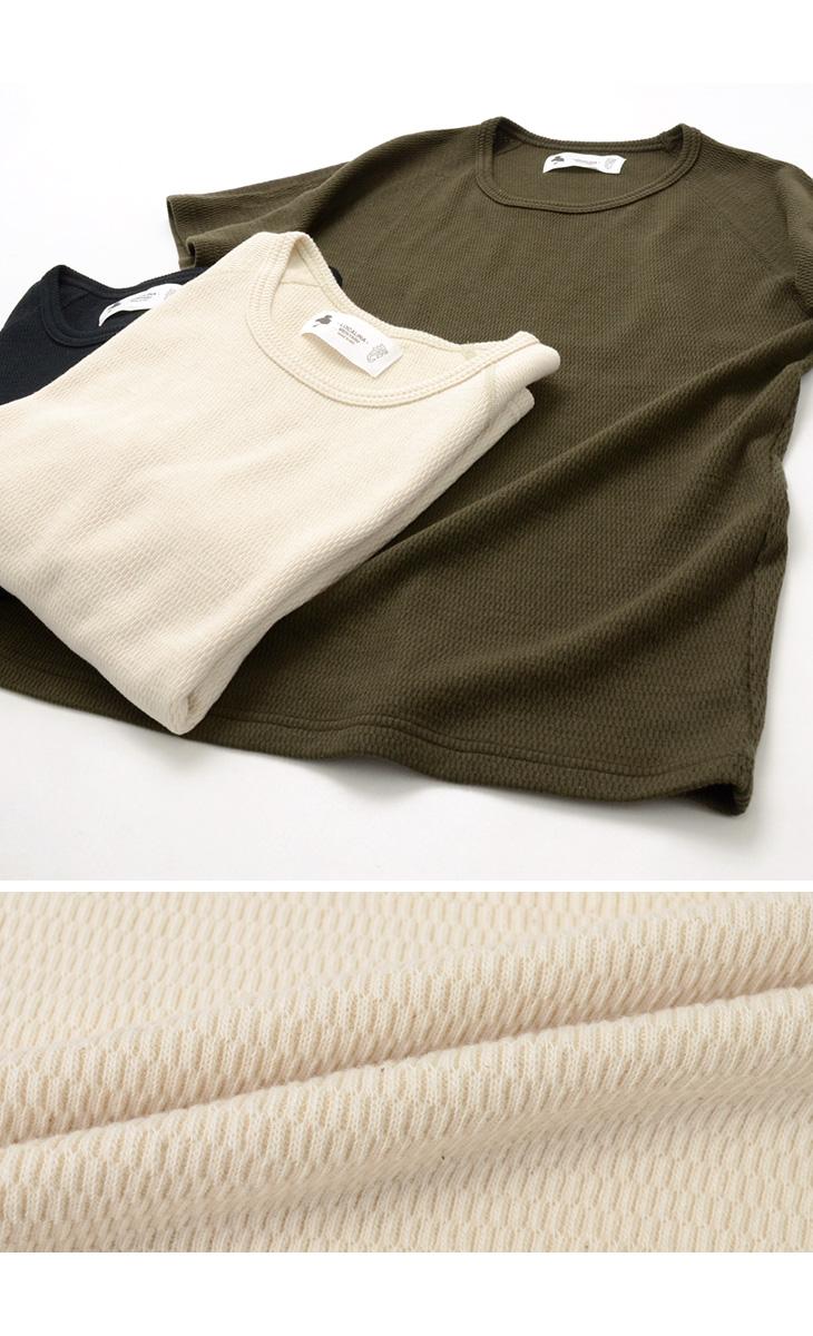【30%OFF】LOCALINA MERIYASU(ロカリナメリヤス) サーマル Tシャツ / 半袖 無地 / メンズ / 日本製 / S/S THERMAL TEE【セール】