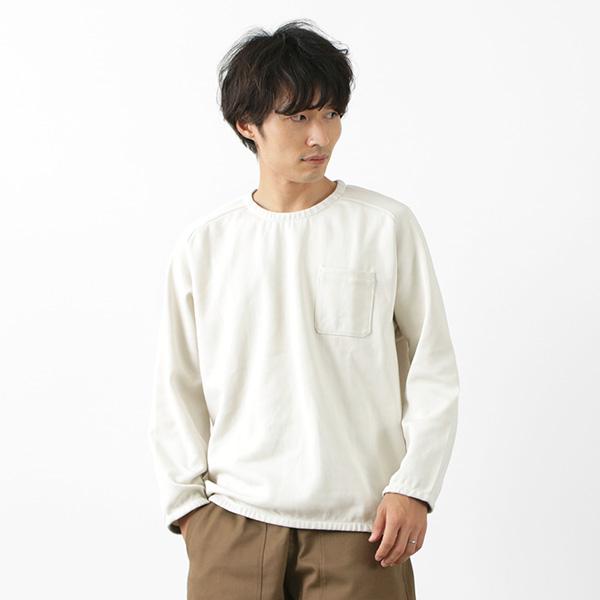 RE MADE IN TOKYO JAPAN(アールイー) コットンジャージー ロングスリーブ ポケット プルオーバー / メンズ / Tシャツ / クルーネック / 9分袖 / ラグランスリーブ / 伸縮 / 吸水 速乾 / ゆったり / 無地 / 日本製 / 5621S-CT / COTTON JERSEY POCKET