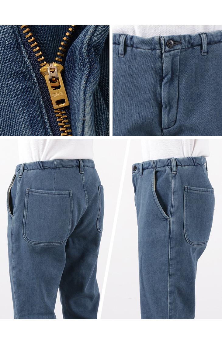 FOB FACTORY (FOBファクトリー) F0475 デニムイージーパンツ ユーズドウォッシュ / メンズ / 裏起毛 / 暖パン / 日本製 / DENIM EASY PANTS