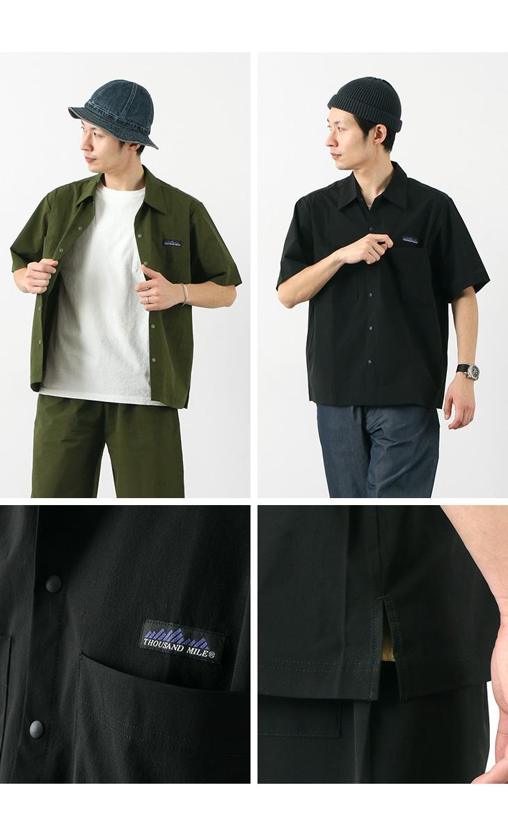 THOUSAND MILE(サウザンドマイル) レジャー セットアップ / 半袖 シャツ ショートパンツ 収納バック / 3点セット / メンズ / LEISURE SET UP