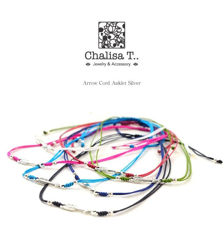 CHALISA T..(チャリッサ・ティー) アローシルバー ノッティングコード アンクレット / シルバー925 / プレーティング