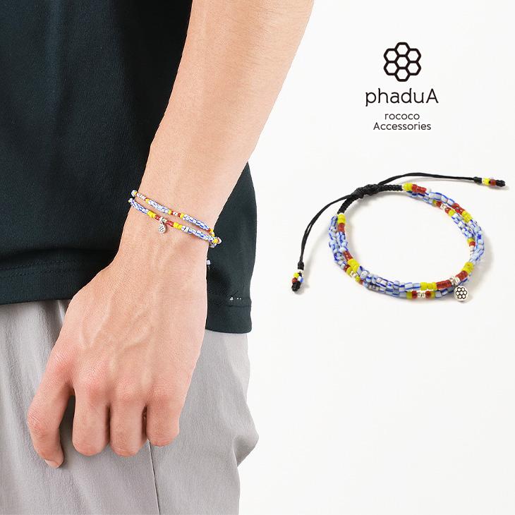 phaduA(パ・ドゥア) マルチ ハンドメイド ビーズ ブレスレット / メンズ / レディース / ペア可 / ワックスコード