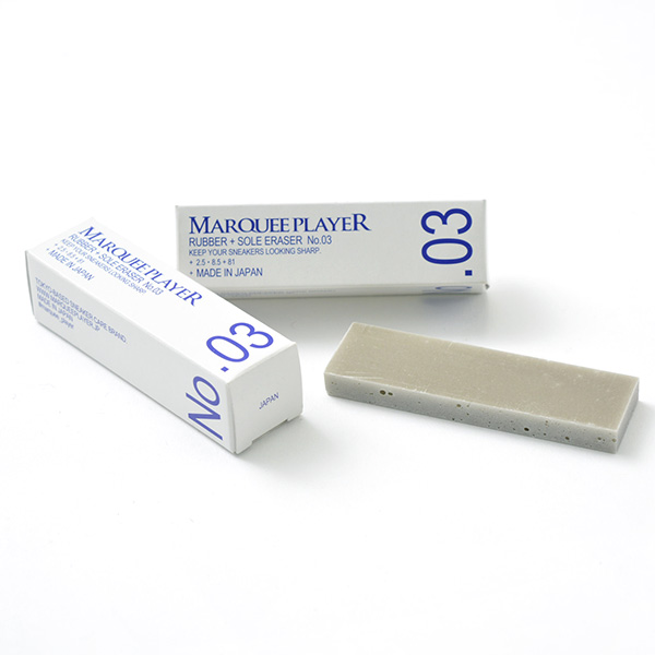 MARQUEE PLAYER(マーキープレイヤー) ラバーソール イレイザー No.03/ スニーカー用 消しゴム / スニーカー ケア / シューケア / 靴 汚れ落とし / 日本製 / RUBBER SOLE ERASER No.03
