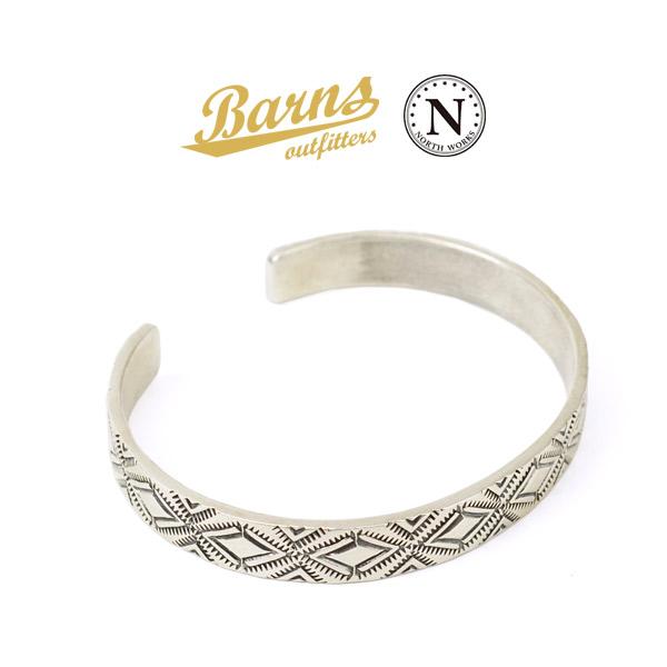 BARNS(バーンズ)×NORTH WORKS(ノースワークス) シルバー バングル / メンズ / レディース / シルバー900 / 日本製 / BR-6965