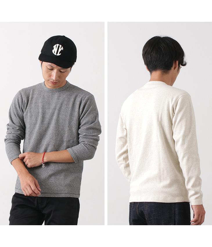 BARNS(バーンズ) スパンフライス 9分袖 Tシャツ / 厚手 / ストレッチ / メンズ / 日本製 / BR-8420