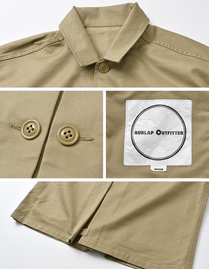 BURLAP OUTFITTER(バーラップアウトフィッター) BDU ジャケット オールシーズンクールマックス ツイル / ミリタリー / メンズ / BDU JACKET CM