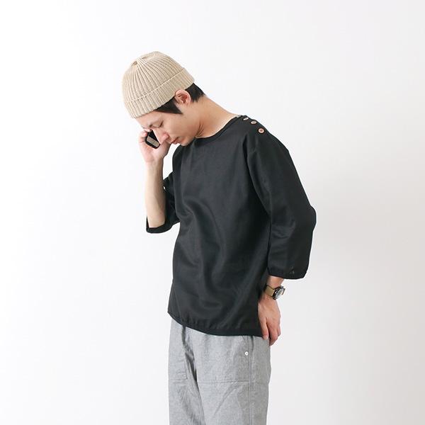 RE MADE IN TOKYO JAPAN(アールイー) リネン キャンバス ボタン バスク / 7分袖 / メンズ / 日本製 / LINEN CAVAS BUTTON BASQUE