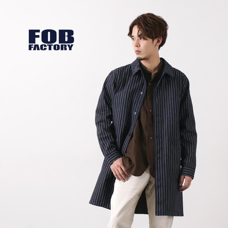 FOB FACTORY(FOBファクトリー) F2408 フレンチ デニムコート ウォバッシュ / コットン / メンズ / 日本製 / FRENCH DENIM COAT