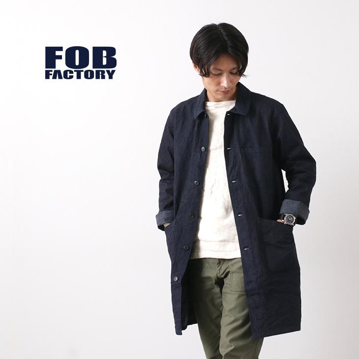 FOB FACTORY(FOBファクトリー) F2408 フレンチ デニムコート ワンウォッシュ / コットン / メンズ / 日本製 / FRENCH DENIM COAT