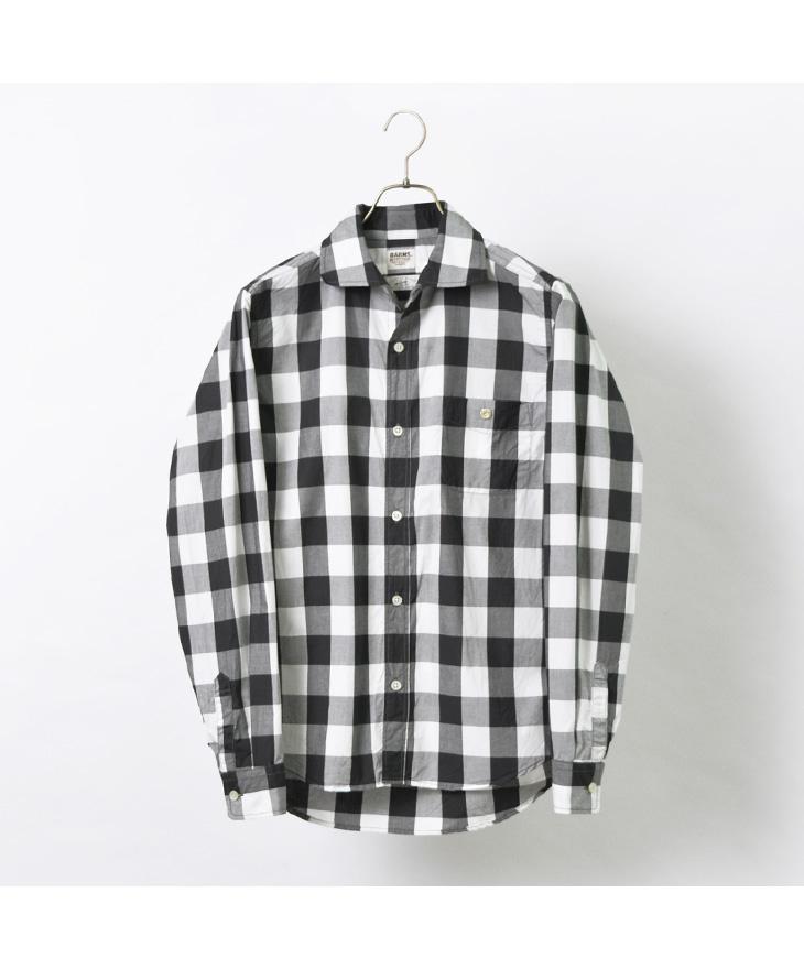 BARNS(バーンズ) シャトルノーツ レギュラーカラー シャツ / メンズ / コットン / チェック / 長袖 / 日本製 / BR-21250R