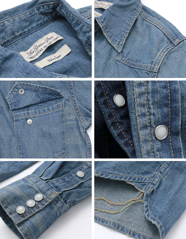REMI RELIEF(レミレリーフ) デニム ウエスタン シャツ / 加工 色落ち / メンズ / 日本製