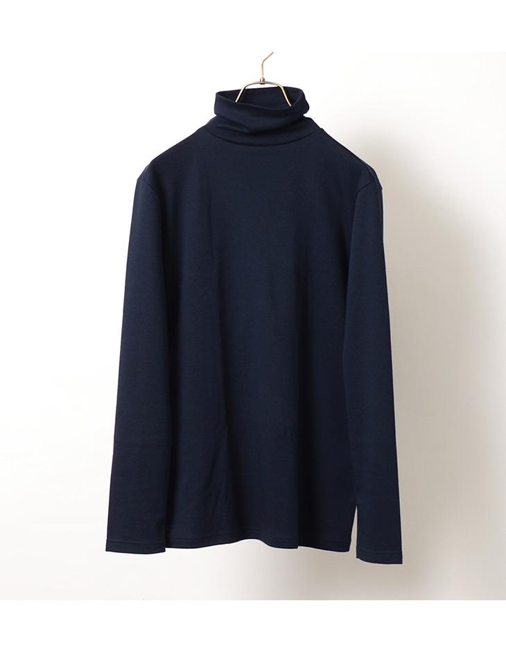 【期間限定!クーポンで10%OFF】BANDOL(バンドール) インターロック タートルネック / Tシャツ / ロングスリーブ / 長袖 / 無地 / フランス製