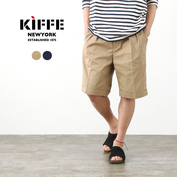 KIFFE(キッフェ) ベルトレス ショーツ / メンズ / ショートパンツ / チノパン / ミリタリーパンツ / ワイドパンツ / コットン / BELTLESS SHORTS / KF211TT19040