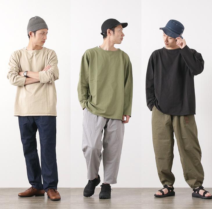 【50%OFF】CAL O LINE(キャルオーライン) ライン ケーブル ロングスリーブ Tシャツ / メンズ / コットン / 日本製 / LINE CABLE L/S TEE【セール】