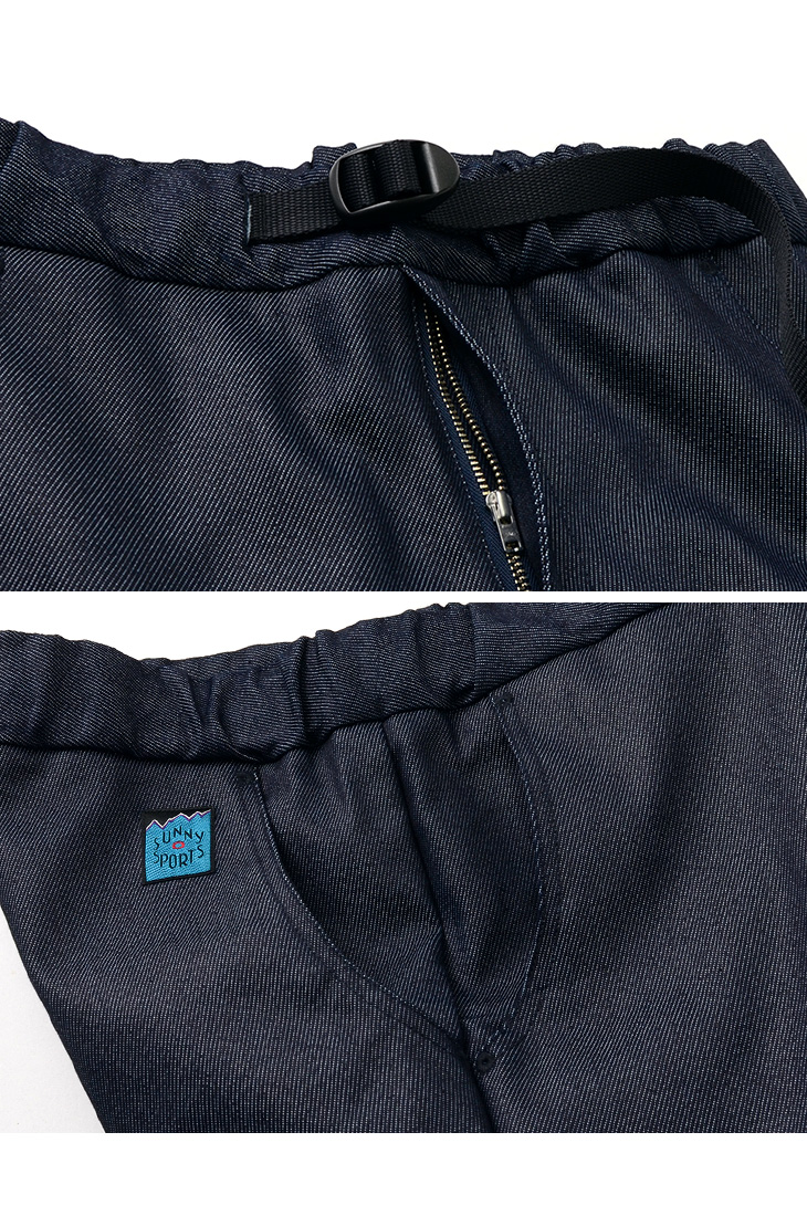 【期間限定!10%OFFクーポン対象】SUNNY SPORTS × RAG(サニースポーツ × ラグ) トレイル 3D パンツ / 10oz ネクスト ストレッチ デニム / イージーパンツ / 日本製 / メンズ / TRAIL 3D PANTS