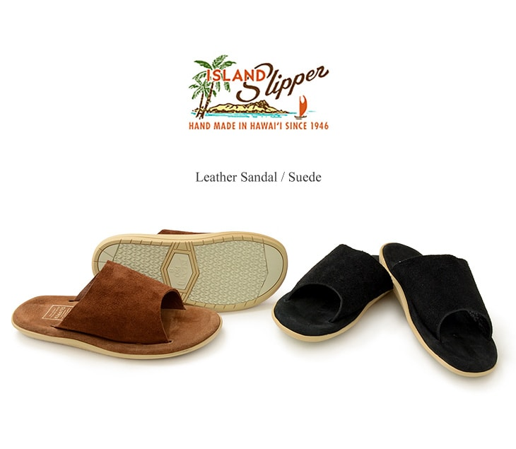 ISLAND SLIPPER(アイランドスリッパ) レザー サンダル / スエード / シャワーサンダル / オープントゥ / メンズ