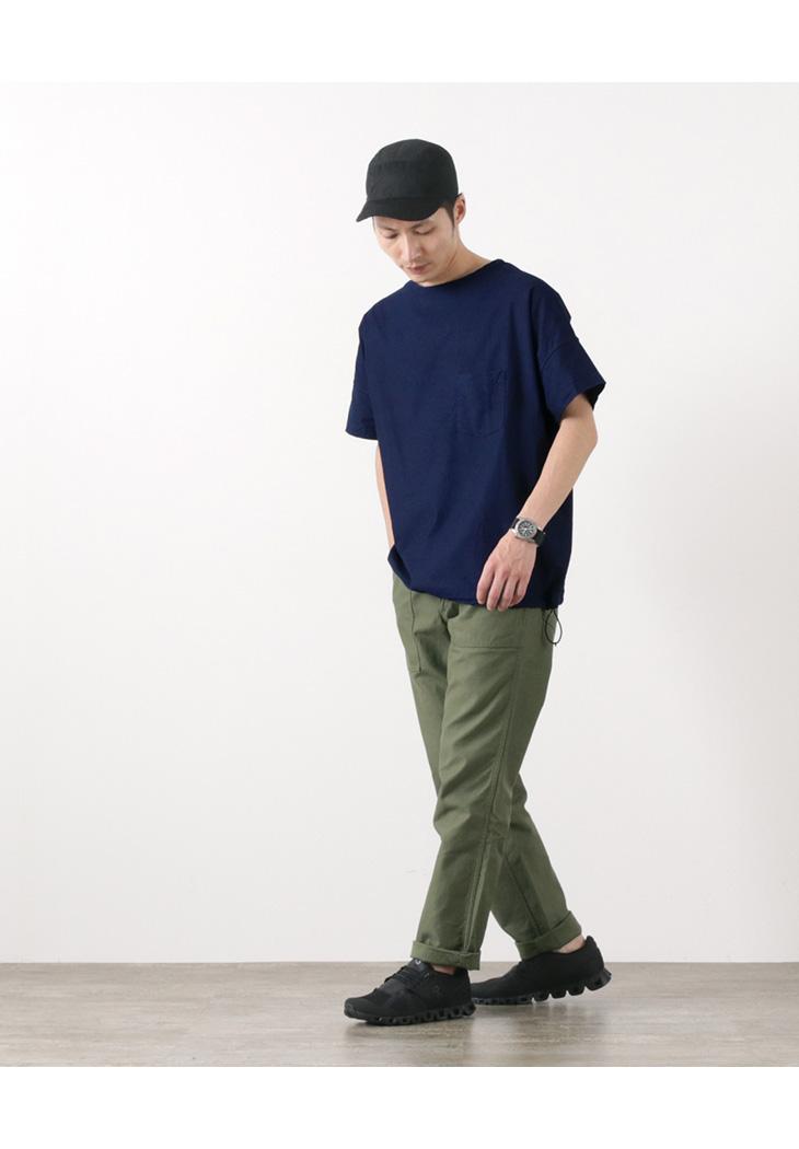 FOB FACTORY(FOBファクトリー) F3450 リラックスクロス Tシャツ / 半袖 /メンズ / 日本製 / RELAX CLOTH T