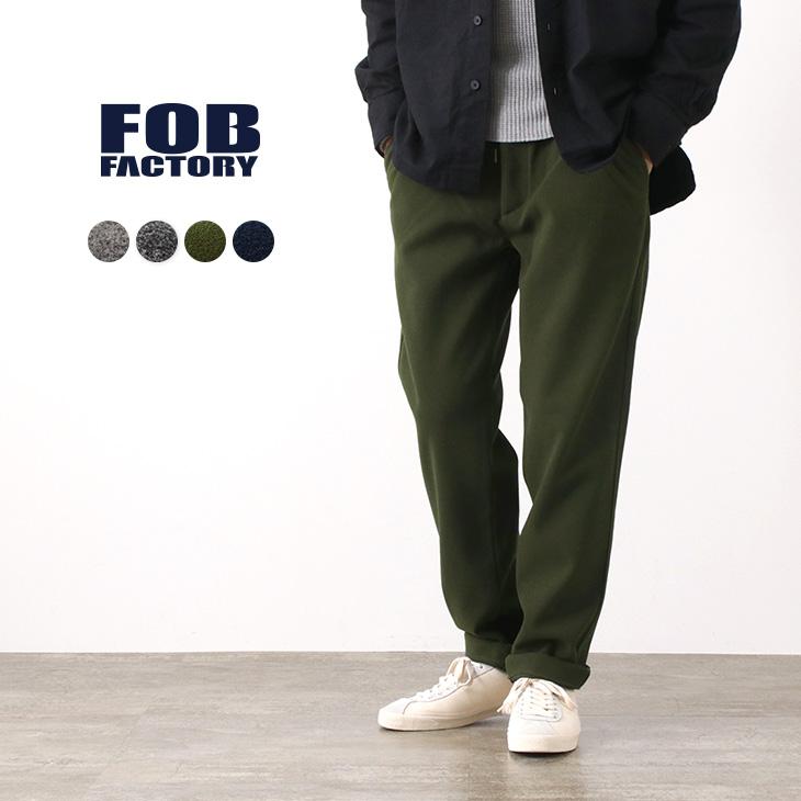 FOB FACTORY(FOBファクトリー) F0492 イージートラウザー / パンツ / ポリエステル / メンズ / 日本製 / EASY TROUSERS