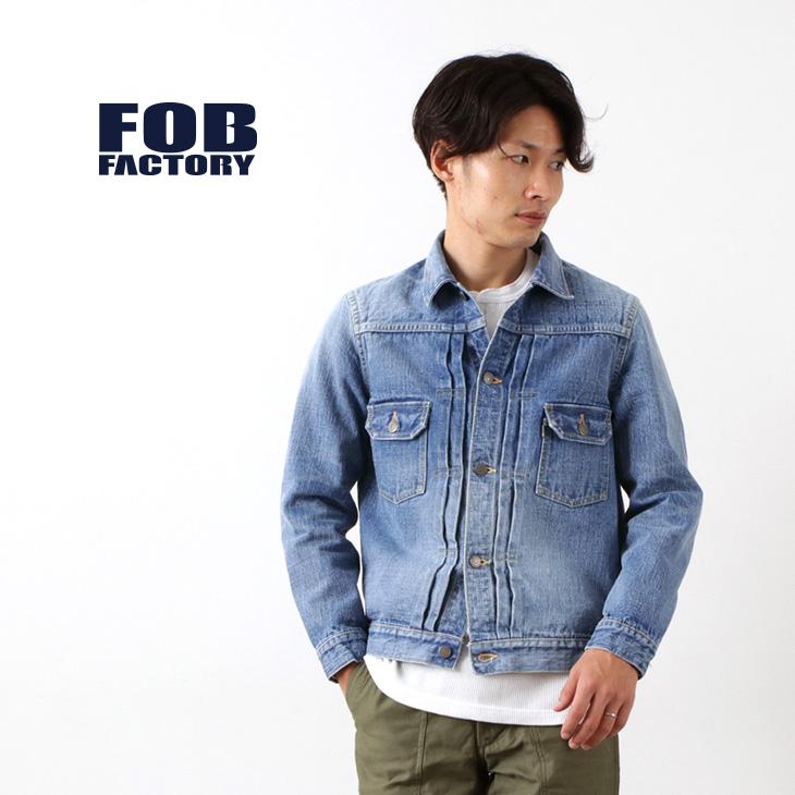 FOB FACTORY(FOBファクトリー) F2378 G-3 セルヴィッチデニム 2ND ジャケット ユーズド加工 / Gジャン / メンズ / 日本製 / G-3 DENIM 2nd JK / liou
