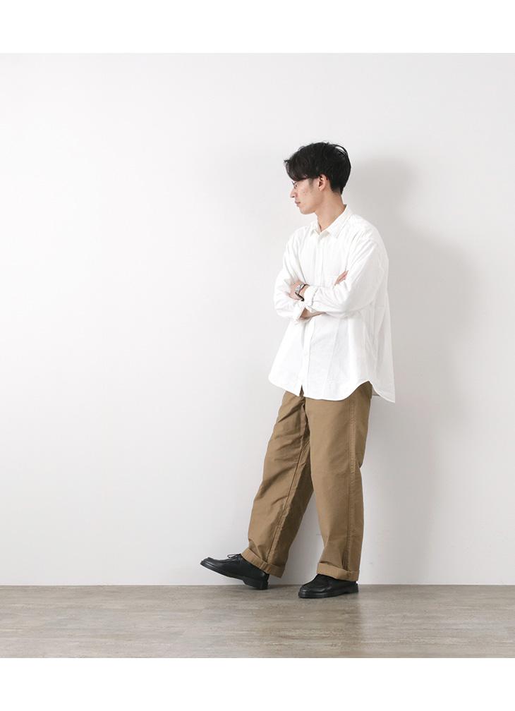 FOB FACTORY (FOBファクトリー) F3442 ワーク オーバーサイズ シャツ / メンズ / ワイド / ワークシャツ / コットン / WORK OVSIZED SHIRT