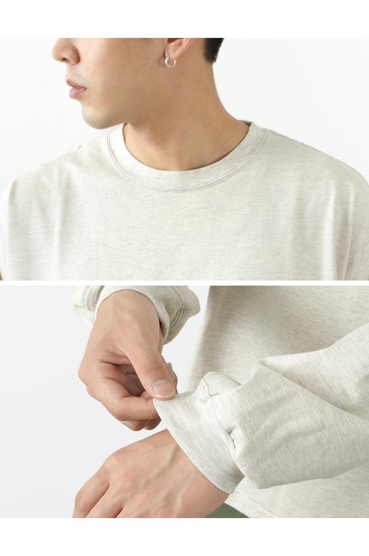 REMI RELIEF(レミレリーフ) 別注 メランジ 天竺 ロングスリーブ クルーポケット Tシャツ / メンズ / 長袖 / クルーネック / 無地 / カジュアル / 滑らか / 綿 コットン / 日本製 / RN4015SDDRC