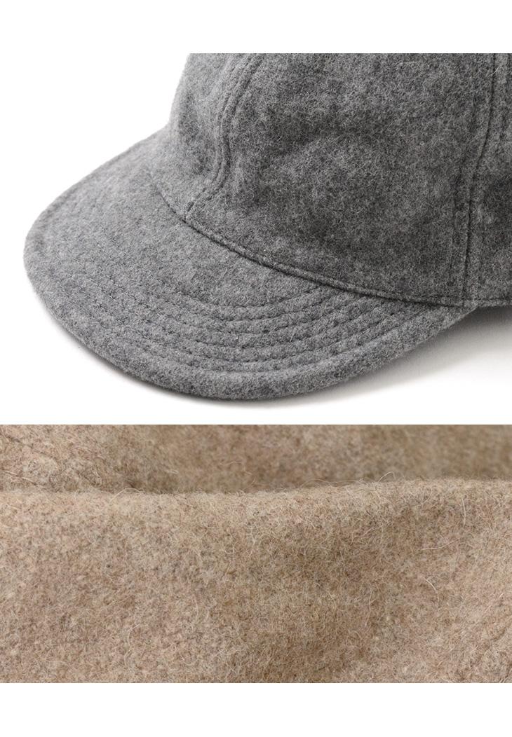 HIGHER(ハイヤー) メルトンキャップ / メンズ / レディース / 日本製 / HT16021 / MELTON CAP