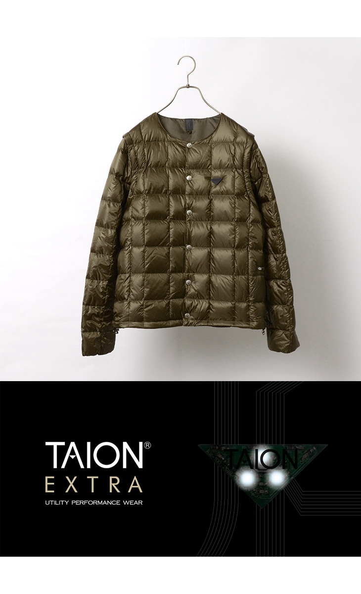 TAION EXTRA(タイオンエクストラ) メンズ クルーネック インナーダウンセット / ベスト 半袖 長袖 / MENS CREW NECK INNER DOWN SET / EX-04SET