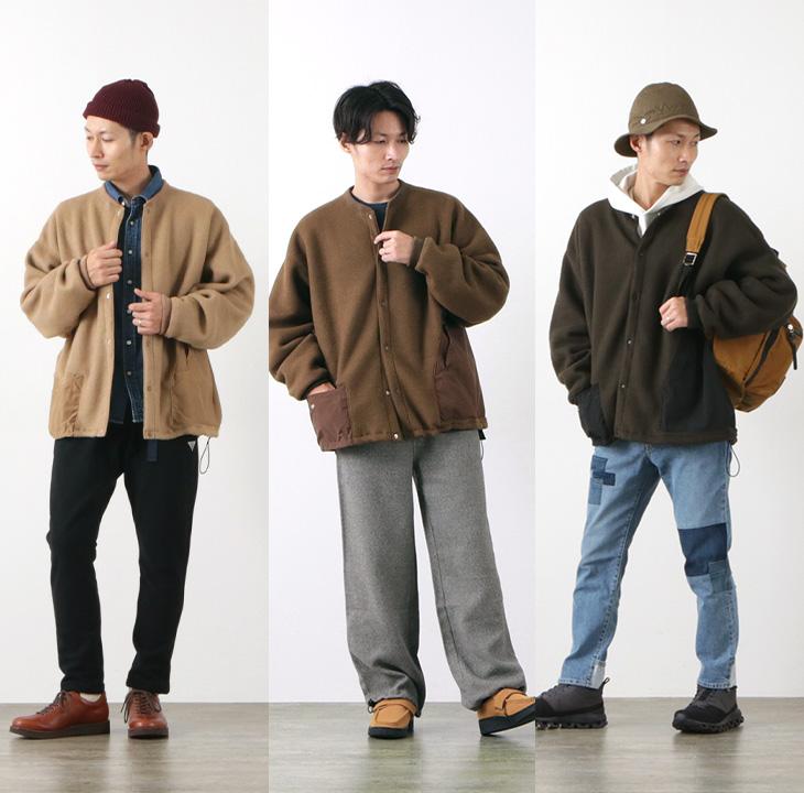 REMI RELIEF(レミレリーフ) A/E ニットフリース アウトドアカーデ / プルオーバー / メンズ / 日本製