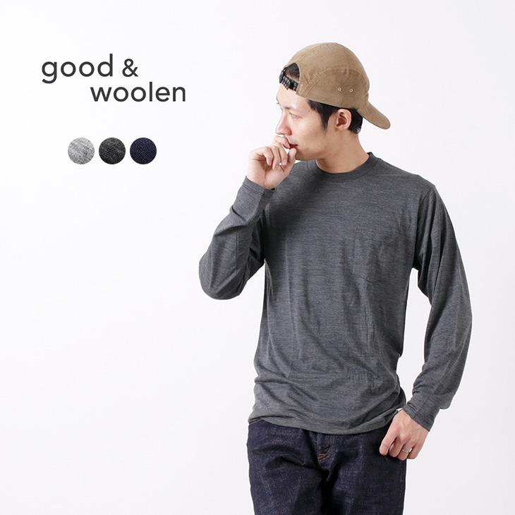 GOOD & WOOLEN(グッドアンドウーレン) スーパーファインメリノ ロングスリーブ ポケット Tシャツ / インナー / メンズ / メンズ / 日本製