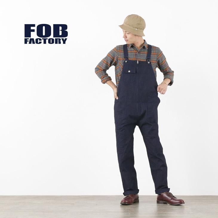 FOB FACTORY (FOBファクトリー) F0479 デニム オーバーオール / メンズ / ジェルトデニム / サロペット / 日本製 / DENIM OVER ALL