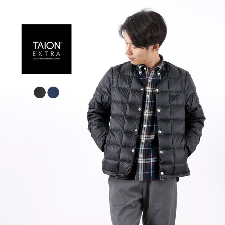 TAION EXTRA(タイオンエクストラ) メンズ Vネック インナーダウンセット / ベスト 半袖 長袖 / EX 01-SET(MENS) / MENS V-NECK INNER DOWN SET
