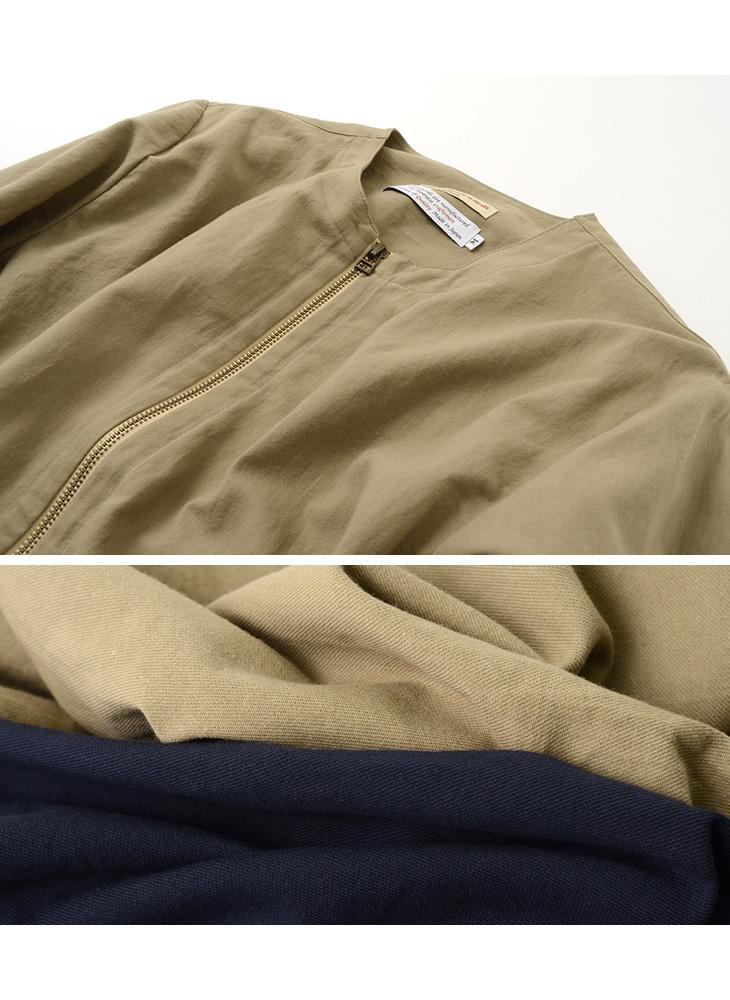 ROCOCO(ロココ) ノーカラー シャツ カーディガン / メンズ / 長袖 / クルーネック / 和紙 / 日本製 / NO COLLAR SHIRT