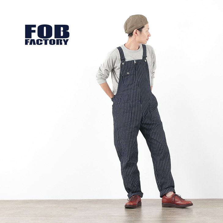 FOB FACTORY (FOBファクトリー) F0479 デニム オーバーオール ウォバッシュ / メンズ / ジェルトデニム / サロペット / 日本製 / DENIM OVER ALL WABASH