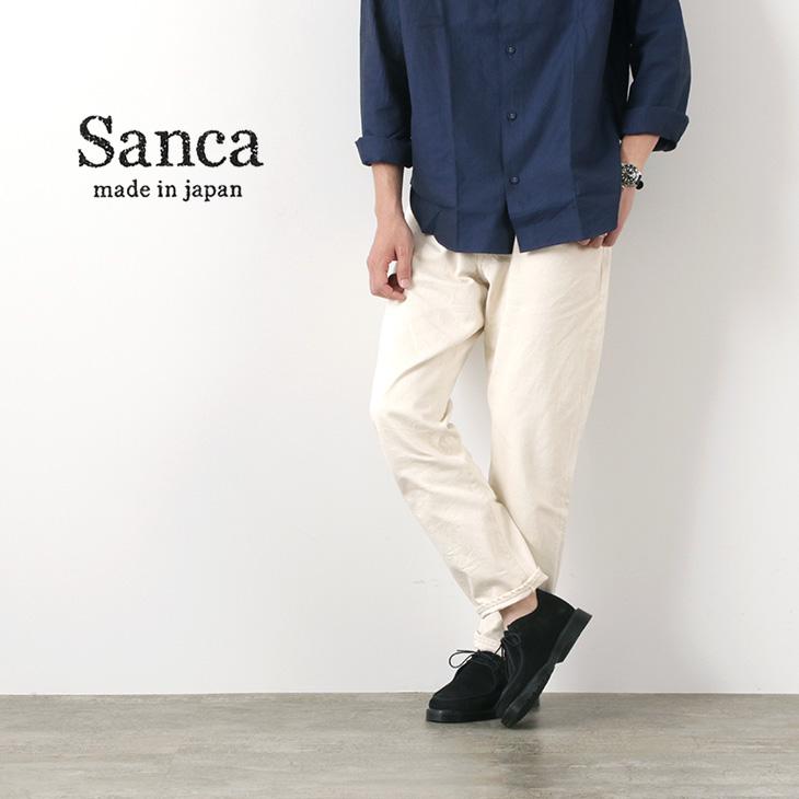 SANCA(サンカ) ナチュラル デニム テーパード 5P パンツ / メンズ / セルヴィッチ / 日本製 / コットン / リラックス / NATURAL DENIM TAPERED 5P