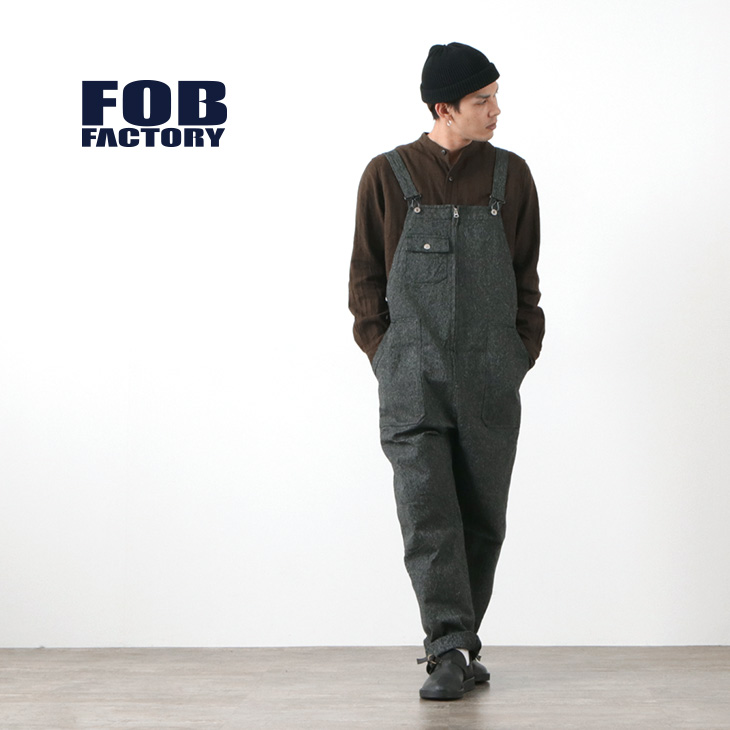 FOB FACTORY (FOBファクトリー) F0494 サージ オーバーオール / メンズ / 日本製 / SARGE OVER-ALL