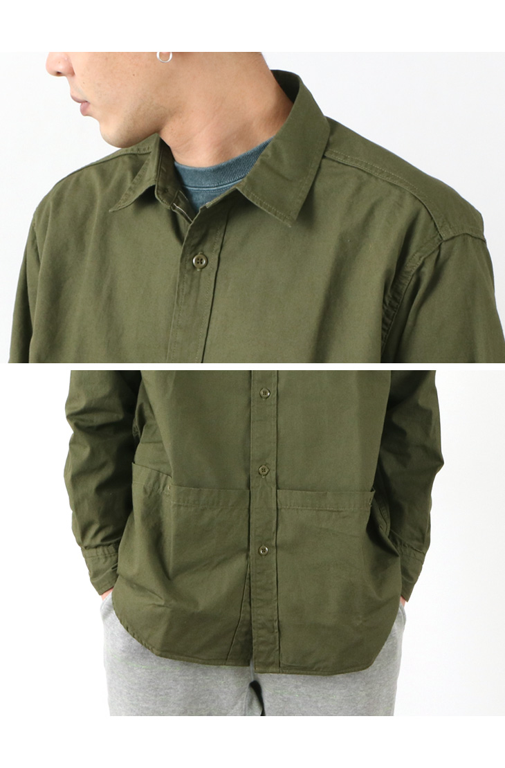 【期間限定!クーポンで10%OFF】FOB FACTORY (FOBファクトリー) F3459 ガーデニングシャツ / メンズ / 長袖 / コットン / 日本製 / GARDENING SHIRT