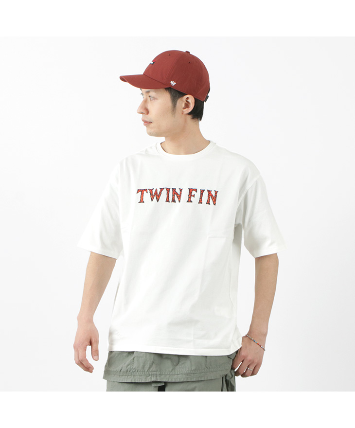CAL O LINE(キャルオーライン) CL211-073 TWIN FIN Tシャツ / メンズ / 半袖 / プリントT / USAコットン / 綿 / 日本製 / CL2111009200 / CL211-073 TWIN FIN T-SHIRT