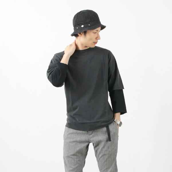 REMI RELIEF(レミレリーフ) 別注 度詰め天竺 グランジ 7分袖 Tシャツ / 無地 / レイヤード / メンズ / 日本製 / RN4018