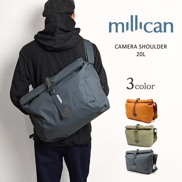 【期間限定!クーポンで10%OFF】MILLICAN(ミリカン) カメラ ショルダーバッグ / 斜めがけ / PC対応 / メンズ レディース / M132 / CAMERA SHOULDER 20L
