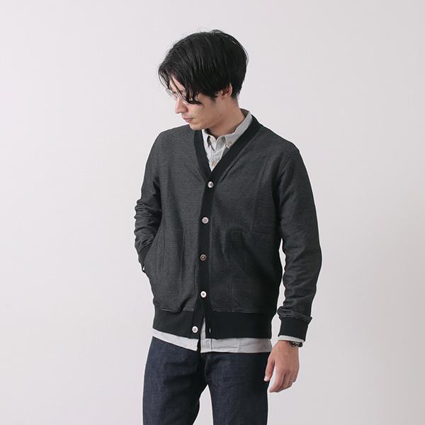 RE MADE IN TOKYO JAPAN(アールイー) クールマックス ジャガード カーディガン / メンズ / 日本製 /  COOL MAX JACQUARD CARDIGAN