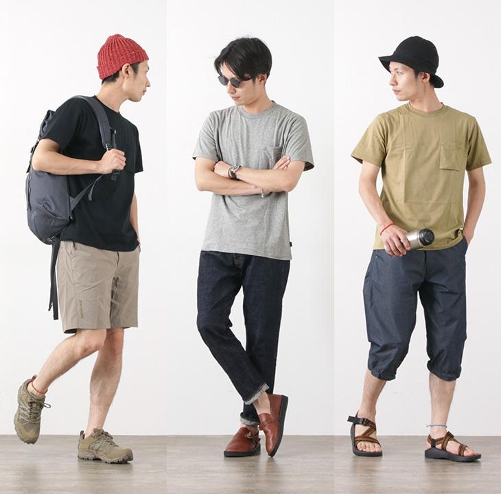 【30%OFF】SHELTECH(シェルテック) パッケージ レギュラー ポケット Tシャツ / メンズ / 無地 / 機能素材 / 吸収速乾 / 紫外線防止 / PACKAGE REGULAR TEE【セール】